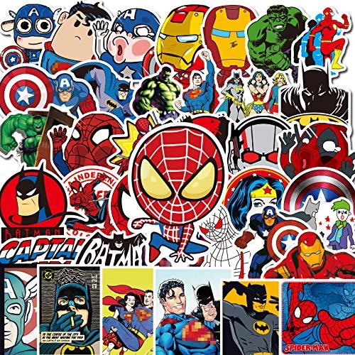 SHUYI Pegatina para coche con diseño de Spiderman de Marvel, para cuerpo, guitarra, vaso de agua, portátil, equipaje, impermeable, pegatina de Marvel Hero