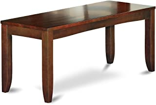 East West Furniture Dining Bench with Wood Seat, Espresso Finish