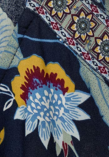 Cecil Damen Shirtbluse mit Blättermuster deep Blue S