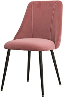 Weqenqing Sillas De Comedor, Escritorios Y Sillas De Oficina, Patas Metálicas De Madera Resistentes, Adecuadas para Comedor/Dormitorio. (Color : Pink)
