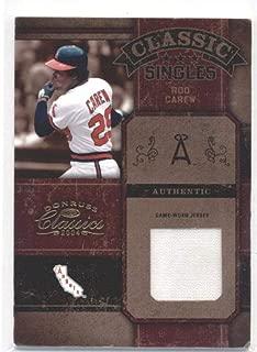 2004 Donruss Classics Classic Singles Jersey #29 Rod Carew California Angels MLB Baseball Card (Memorabilia/Game Used) /100 NM-MT