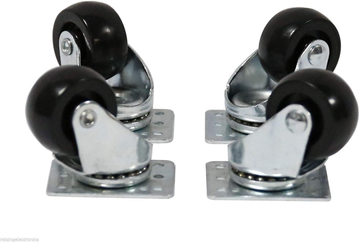 RAISING ELECTRONICS 4 Pieces Server Cabinet Casters Wheels Racks Heavy Duty