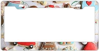 KSLIDS Holiday Christmas Tree Santa Gift Novelty License Plate Decorative Front Plate 6
