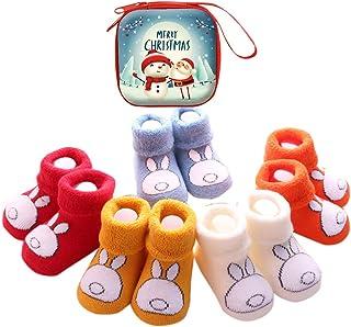 Sweetneed, 5 Pares Calcetines Recien Nacido niño Calcetines de recién nacido Calcetines bebe niña Invierno 0-36 Meses
