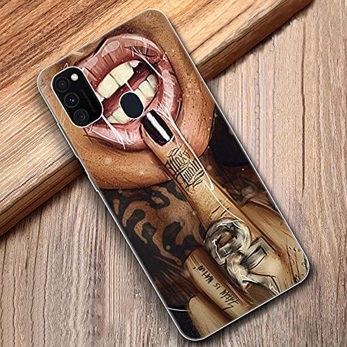 Samsung Galaxy M11 M10S M01 M21 M31S M51 A01 J2 Core A21 A42 J6 A6 A8 Plus A7 2018 Housse-Samsung_A21 _(_US_)_001 - Bolso suave para niña de tatuaje con mangas sexy