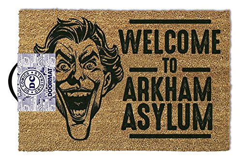 empireposter The Joker – Welcome To Arkham Asylum – Zerbino, di Dimensioni: 60 x 40 cm, Materiale in Fibra di Cocco/PVC