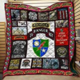 Personalized Army Ranger Veteran Quilt Bedding Set Birthday Little Girls Kids Gift Best Decorative for Bedding Set, Gifts from Mom Mother Dad Daddy Father Grandmaa