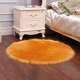 Tapis ronds moelleux de tapis pour la décoration de salon Fausse fourrure tapis enfants chambre longs tapis en peluche pou...