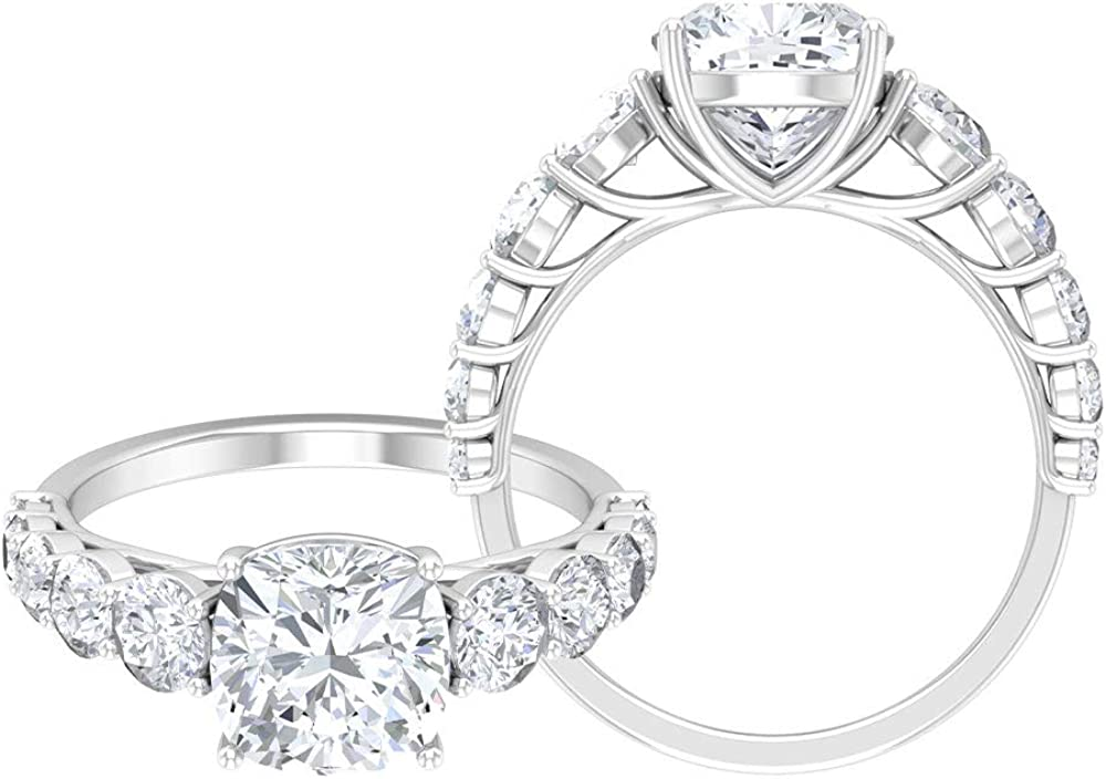 3.25 CT D-VSSI Moissanite Engagement Some reservation Ring with Solitaire Cheap mail order sales S