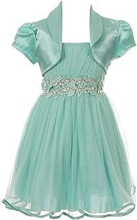 فستان للبنات الصغيرات بدون أكمام وهمية بأحجار الراين للمناسبات الخاصة زهرة للفتيات الصغيرات
