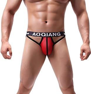 Erotic Briefs Underwear for Men,Men's Mesh Sexy Underwear After Empty Breathable Comfort Sexy Underpants