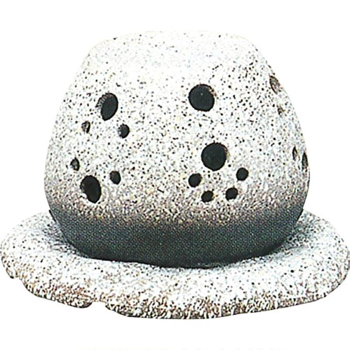 拡声器ヘッドレス恵み茶香炉 : 常滑焼 山房窯 ロウソクタイプ茶香炉 (白皿付?ロウソク1ヶ付)?ル35-05