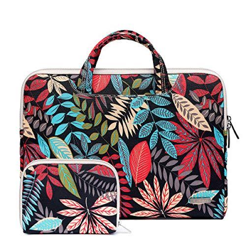 Yinghao Tragbare Handtasche 14 15 6 Aufbewahrungstasche Für MacBook Air Pro Retina 11 12 13 15 Laptop für Dell HP Xiaomi Notebook-Tasche@PU Schwarz_Für xiaomi Luft 13