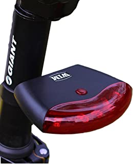 Estiq Bicycle Tail Lights Intelligent Induction UFO Wireless Fully Automatic Brake Waterproof Safety Warning 4 Modes 5 LED Bike Light,Rear LED Accessories Fits On Any Road Bikes