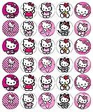 30 Cialde commestibili per decorare cupcake, motivo: Hello Kitty