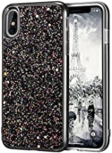 iPhone X Case, iPhone 10 Case, MIRACASE Shockproof Glitter Sparkle Bling Dual Layer Hard Cover Soft Bumper Protective iPho...