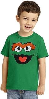 Sesame Street Oscar The Grouch Face Toddler T-Shirt