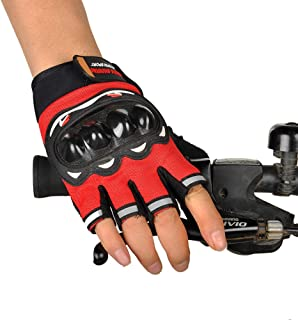 comprar comparacion STRIR Guantes Ciclismo Bicicleta Bici, Dedos Cortos, Guantes Moto y Guantes Tácticos Militares para Gym MTB Racing Fitness...