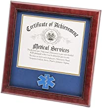 product image for flag connections US EMS Certificate of Achievement Picture Frame with Medallion - 8 x 10 Inch Opening