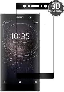 E-Hamii 3D skyddsfilm, komplett skydd premium härdat glas skärmskydd HD helskärmsskydd, Sony Xperia XA2 Ultra(Black)