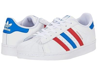 adidas Originals Kids Superstar (Little Kid) (Footwear White/Blue/Scarlet) Kids Shoes