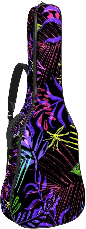 Acoustic Guitar Bag Cool Leaves Stra Shoulder Adjustable Award Pattern New mail order