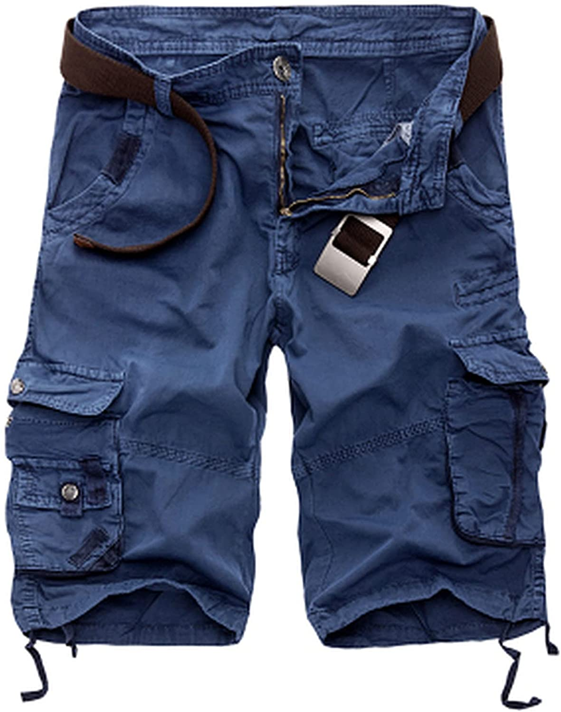 Military Cargo Shorts Men Summer Camouflage Pure Cotton Comfortable Camo-Blue-31
