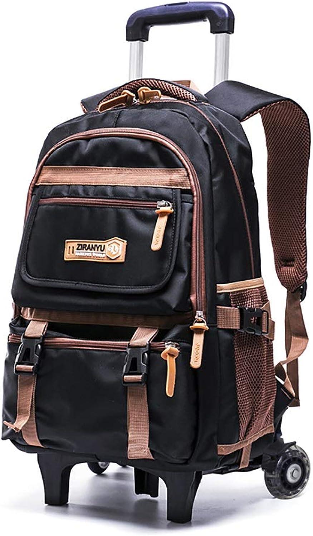 Liuzecai Kinderwagen Schultasche Rolling Backpack Trolley Rollende Schulbuchtaschen Tragbare Reisetasche mit hohem Fassungsvermgen Gepck mit 6 Rdern, die Treppen steigen