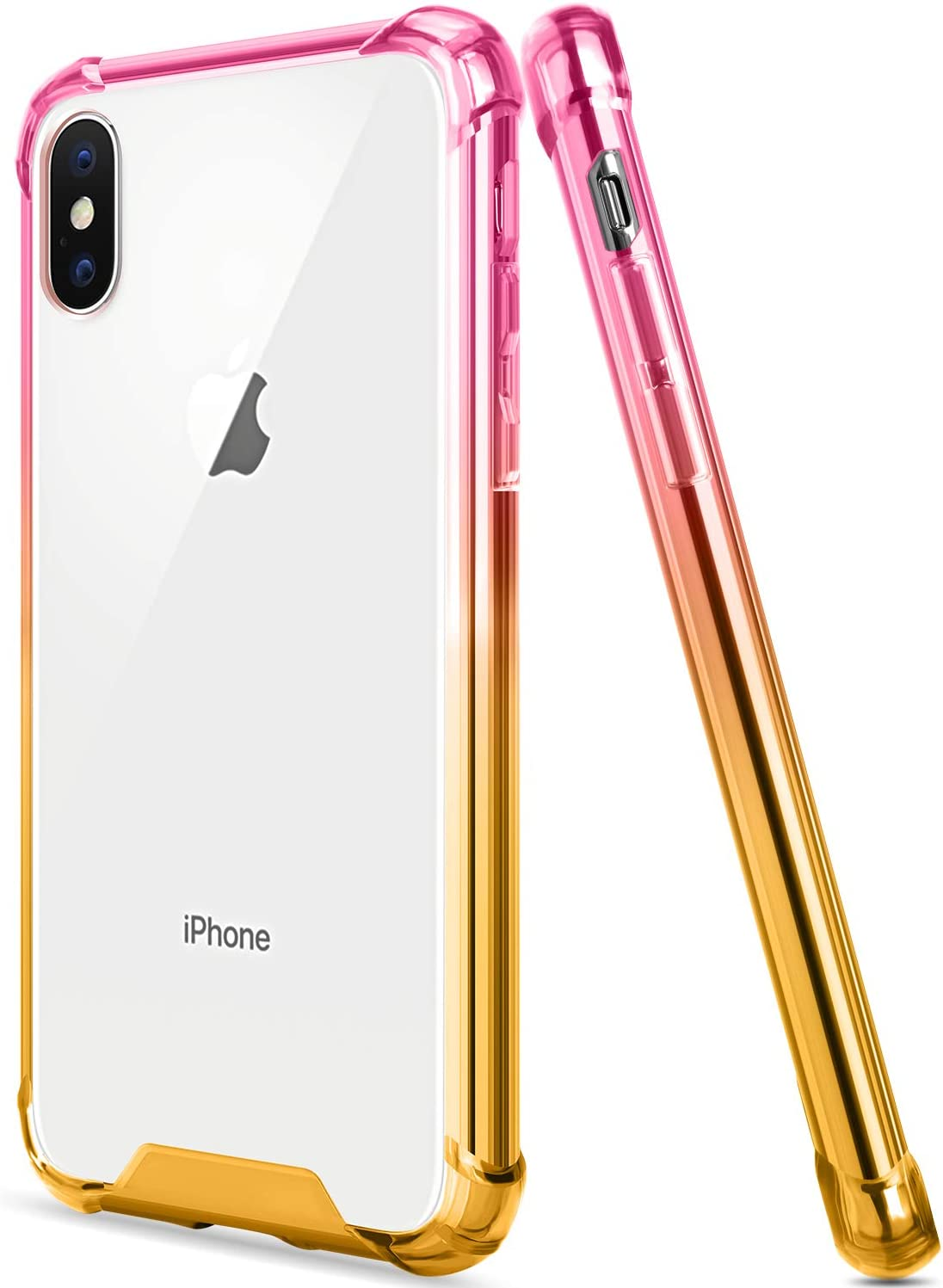 Salawat Compatible iPhone Xs Max Case, Clear iPhone Xs Max Case Cute Anti Scratch Slim Phone Case Cover Reinforced TPU Bumper Shockproof Protective Case for iPhone Xs Max 6.5inch 2018 (Pink Gold)