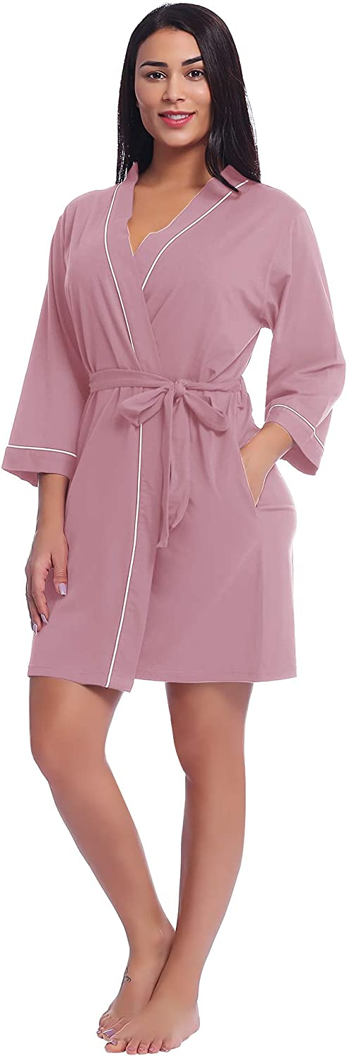 Womens Robes Lightweight Short Knit All items in the store Bathrobes Sleepwe Soft Challenge the lowest price of Japan