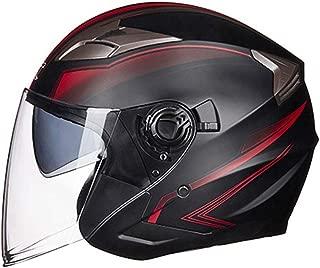 Motorcycle Open Face Helmet Motorbike Moped Jet Bobber Pilot Crash Chopper 3/4 Half Helmet with Sun Visor for Adult Men Women