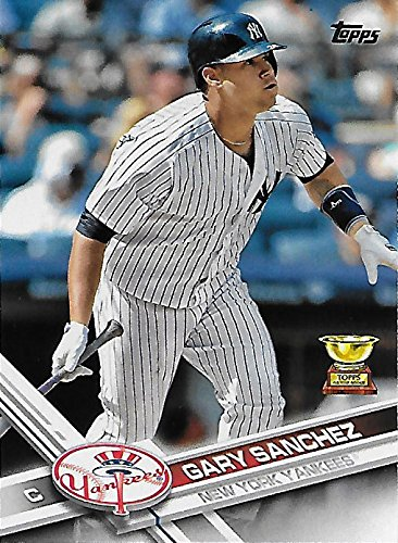 Gary Sanchez 2017 Topps Mint All Star Rookie Award Card #7 Picturing This New York Yankees Star in his Pinstriped Jersey