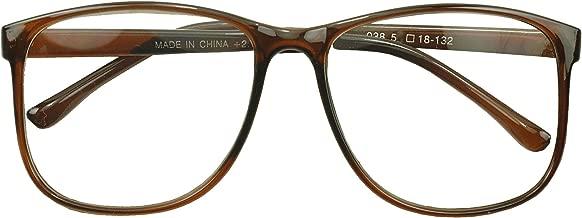 SunglassUP - XL Oversized Horn Frame Optical Rx +1.00 thru +3.50 Reading Glasses