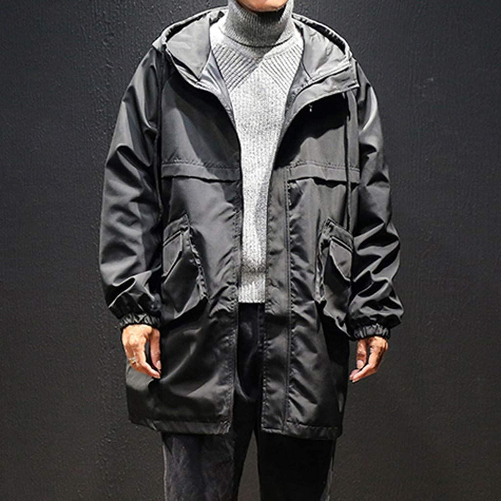 Men's Hooded Thickened Long Down Jacket Maxi Down Parka Puffer Coat