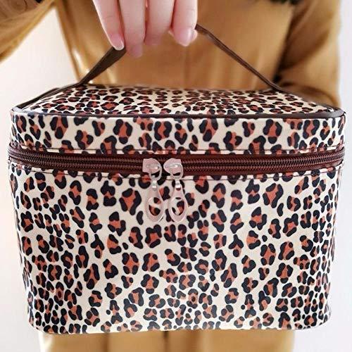 WCCCW Bolso de Cosméticos Caja cosmética de la Belleza Bolsa de Almacenamiento-Rosa Neceser Maquillaje (Color : Light Leopard)
