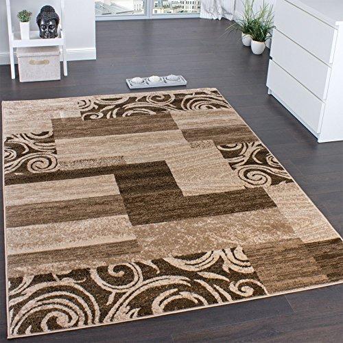 Paco Home Designerteppich für Wohnzimmer Inneneinrichtung Teppich Meliert Beige Braun, Grösse:80x150 cm