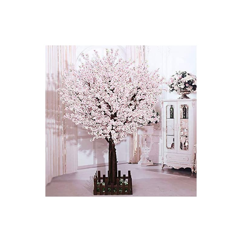 silk flower arrangements j-beauty white artificial cherry blossom tree artificial plant for wedding event indoor outdoor party restaurant mall silk flower