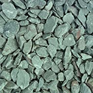 Green Slate. Offcuts from roofing slate. Product size: 20mm Colour: Green Shape: Angular Packing: 25kg bag