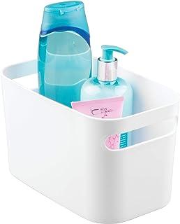 iDesign boîte de rangement avec poignées, petit rangement cuisine en plastique pour la maison, bac plastique pratique pour...