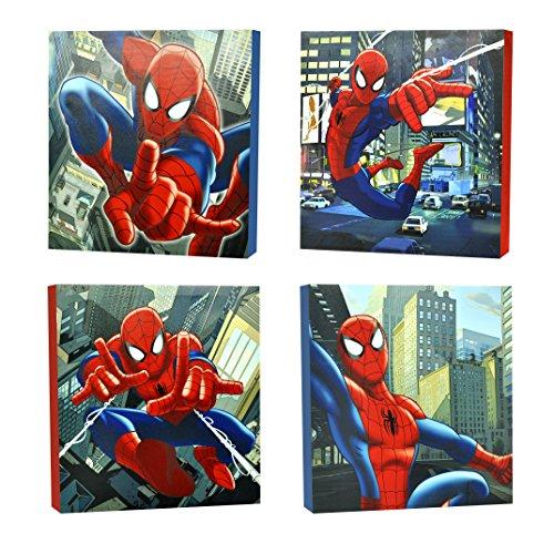 Marvel Spider-Man Canvas Wall Art (4-Piece)