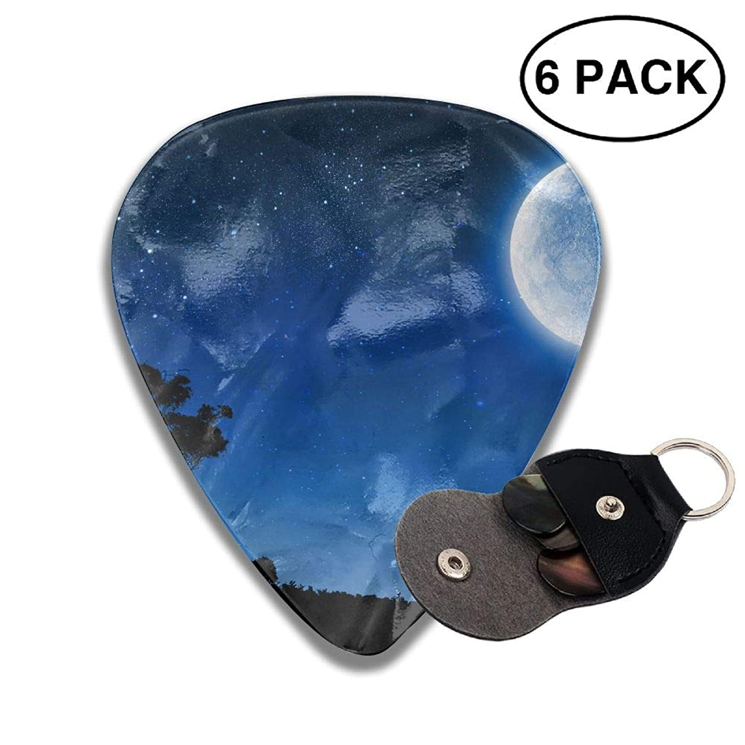 CUTEDWARF 6 Pieces of Personalized Guitar Picks Moon Print
