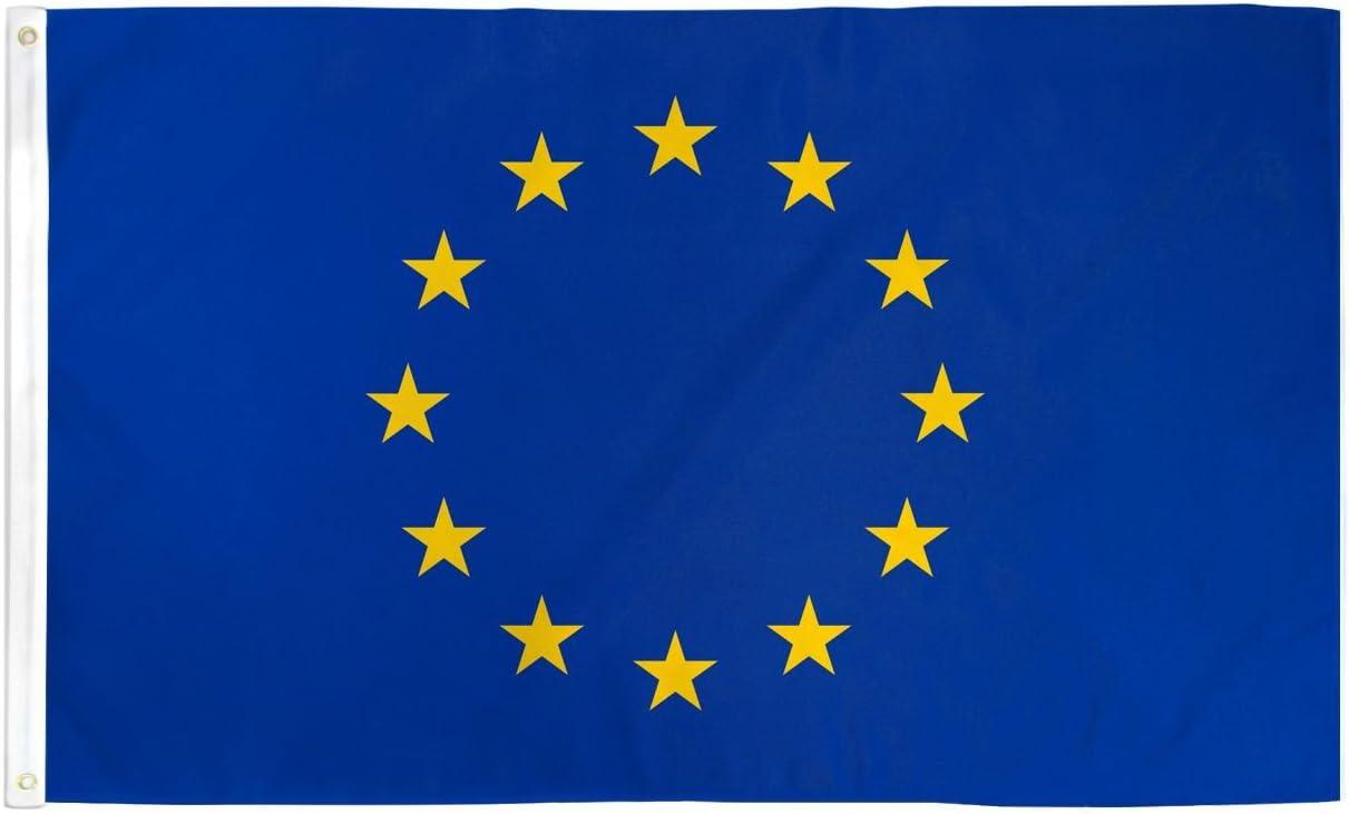 3x5 European Union Flag EU Banner Euro Zone Pennant : Amazon.co.uk: Garden  & Outdoors