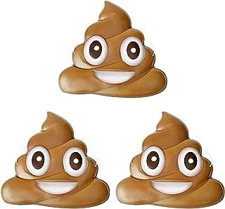 Poop Emoji Party Supplies Costume Mask, Pack of 10