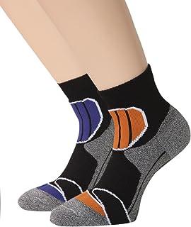 Calcetines de trekking para hombre y mujer, de caña corta con suela, calcetines deportivos, 2 o 4 pares