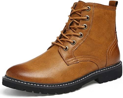 Herren High-Top-braun Lederschuhe Stiefeletten Martin Stiefel Outdoor Trekking Wanderschuhe Schnürschuhe Arbeit Sicherheit Schuhe Stiefel