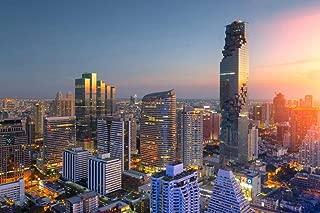 Bangkok Thailand Modern City Buildings Skyline Aerial Photo Cool Wall Decor Art Print Poster 36x24