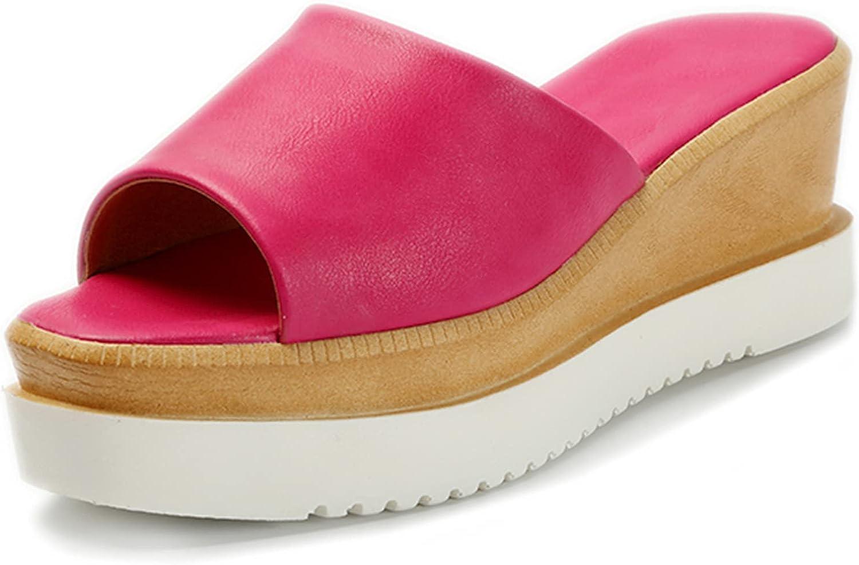 SaraIris Women's Summer Sandals Open Toe Wedge Platform Sandals Slides Outdoor Cork Heel Slippers