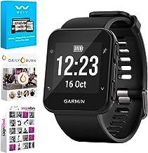 Garmin Forerunner 35 GPS Running Watch & Activity Tracker - Black (010-01689-00) w/Tech Smart USA Fitness & Wellness Suite Includes, Altair Weyv, Yoga Vibes and Daily Burn Digital Downloads