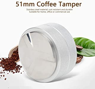 WJFQ Presse Mouture Café 51mm Distributeur de café réglable Café Tamper 3 Slopes Double Couche Angled en Acier Inoxydable ...