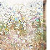 rabbitgoo 3D Fensterfolie Selbstklebend Dekorfolie Sichtschutzfolie Statisch Haftend Anti-UV-44